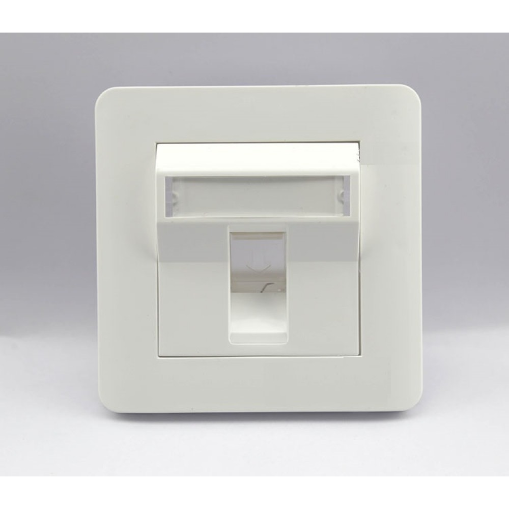 Single RJ45 Network Face Plate With Spring Cover (S436)