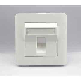 image of Single RJ45 Network Face Plate With Spring Cover (S436)