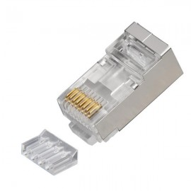 image of CAT6 RJ45 SHIELDED CONNECTOR WITH 2 PCS (S457)