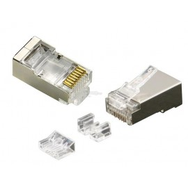 image of CAT6A RJ45 SHIELDED METAL CONNECTOR WITH 3 PCS (S455)