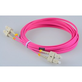 image of SC-SC 50/125 OM4 Multimode Duplex Fiber Patch Cable 3 Meter (S460)