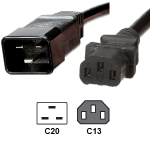 IEC C13 to IEC C20 1.0mm Power Cord 2Meter (S491)