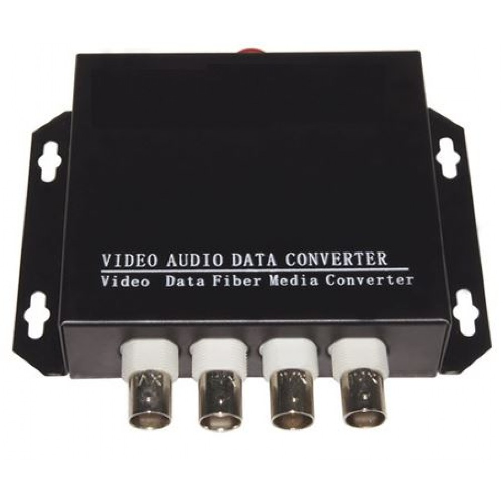 4 Port 1080P AHD/ HDCVI/ TVI Fiber Media Converter RS485 (S480)