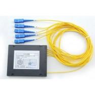 image of 1X4 Fiber Optic SC Single Mode PLC Splitter 1 To 4 (S469)