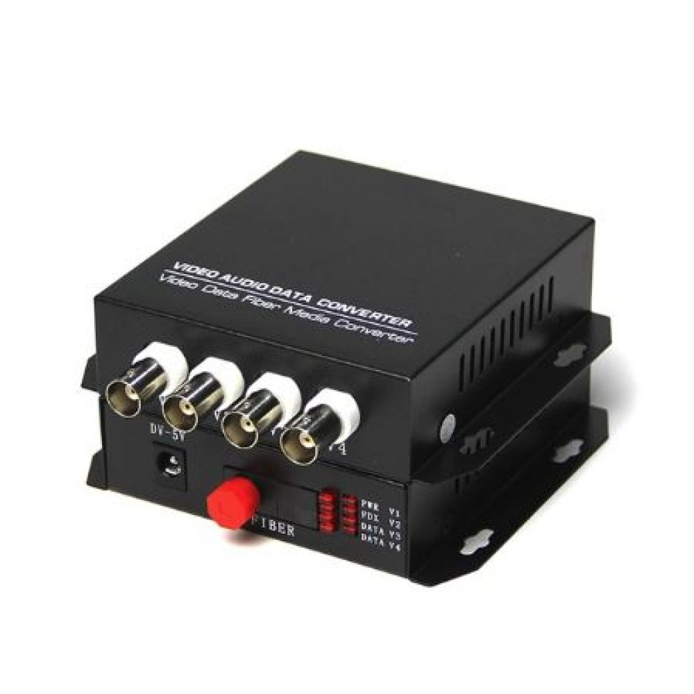 4 Port 1080P AHD/ HDCVI/ TVI Fiber Converter (S479)