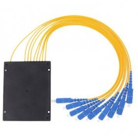 image of 1X8 Fiber Optic SC Single Mode PLC Splitter 1 To 8 (S468)