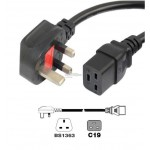 UK Plug to C19 Power Cord 13A 1.5mm 1.8Meter (S488)