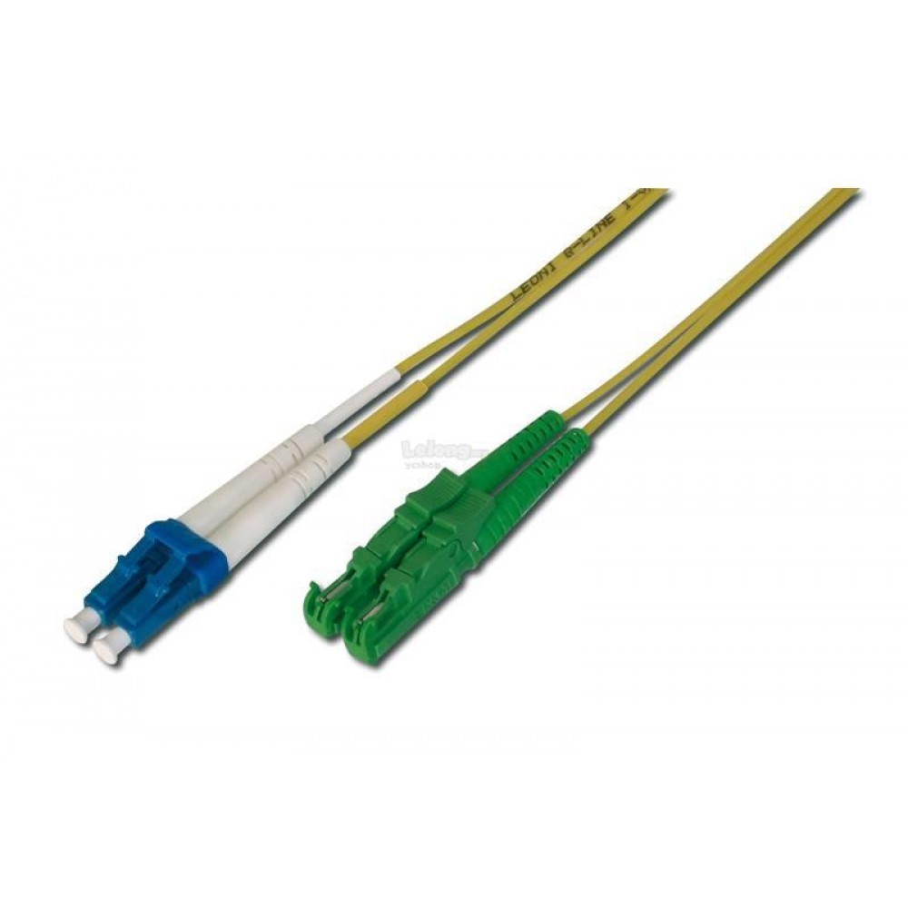 E2K/APC TO LC/UPC SINGLE MODE DUPLEX FIBER PATCH CABLE 20M (S487)