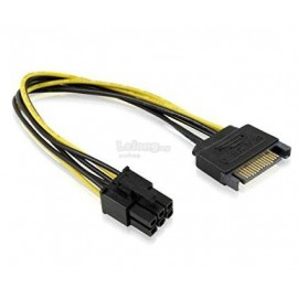 image of Power Cable 6 pin Female to Sata Power Male (S162)