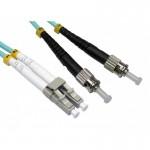 LC-ST 50/125um OM3 Multimode Duplex Fiber Optic 5 Meter (S498)