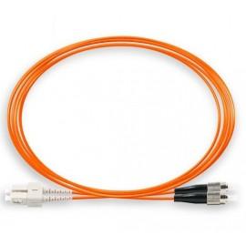 image of SC-FC 50/125um OM2 Multimode Duplex Fiber Optic 3Meter (S502)