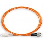image of SC-FC 50/125um OM2 Multimode Duplex Fiber Optic 5Meter (S503)