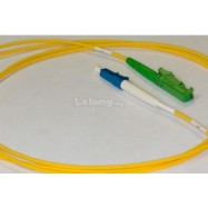 image of E2K/APC TO LC/UPC SINGLE MODE SIMPLEX FIBER PATCH CABLE 5M (S520)