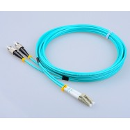 image of LC-FC 50/125um OM3 MultiMode Duplex Fiber Optic 10 Meter (S496)