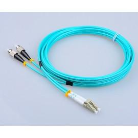 image of LC-FC 50/125um OM3 MultiMode Duplex Fiber Optic 15 Meter (S497)