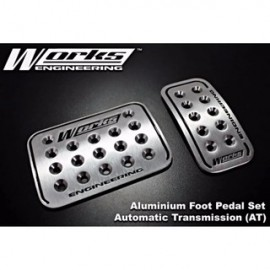 image of Works Engineering Aluminium Foot Pedal Set (Automatic)