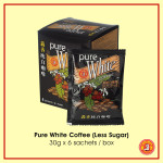 Pure White coffee (Less Sugar) 30 g x 6 sachets