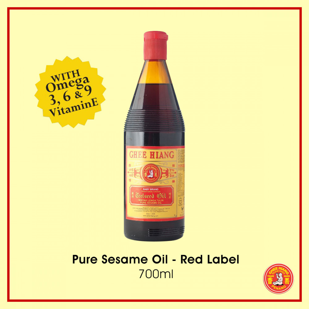 Pure Sesame Oil (Red Label) 700ml x1ctn ship by Lorry