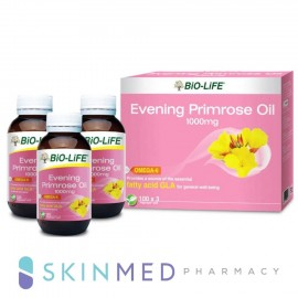 image of BIO-LIFE EVENING PRIMROSE OIL 1000MG 100S X 3