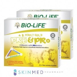 image of BIO-LIFE AB ADULT GOLD PRE & PRO 30S X 2