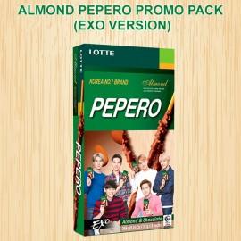 image of [Joy Snacks] Lotte Almond Pepero Almond Stick Big Pack 256g (EXO VERSION) - KN36