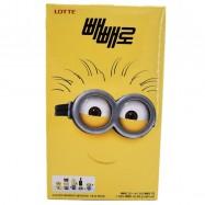 image of [Joy Snacks] Korea Lotte Pepero Minion Big Pack Chocolate/Almond 306g - KN392