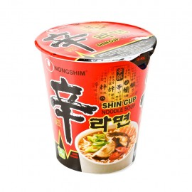 image of [Joy Snacks] NongShim Shin Ramyun Cup Noodle (Halal) - Gourmet Spicy 68g - KN04