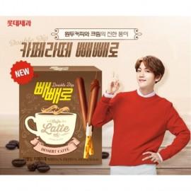 image of [Joy Snacks] Lotte Pepero Double Dip Latte 50G - KN243