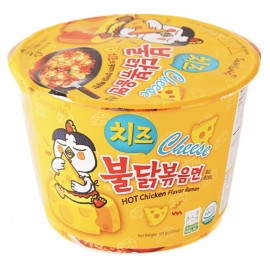 image of [Joy Snacks] Samyang Cheese Hot Chicken Ramen Bowl (Halal) 105g - KN333