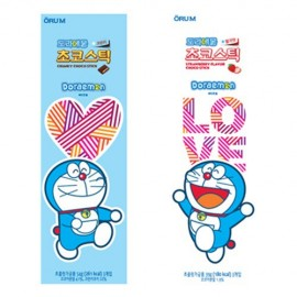 image of [Joy Snacks] Korea Orum Doraemon Strawberry / Crunky Choco Stick 54g - KN423