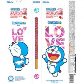 image of [Joy Snacks] Korea Orum Doraemon Strawberry Choco Stick 54g - KN423