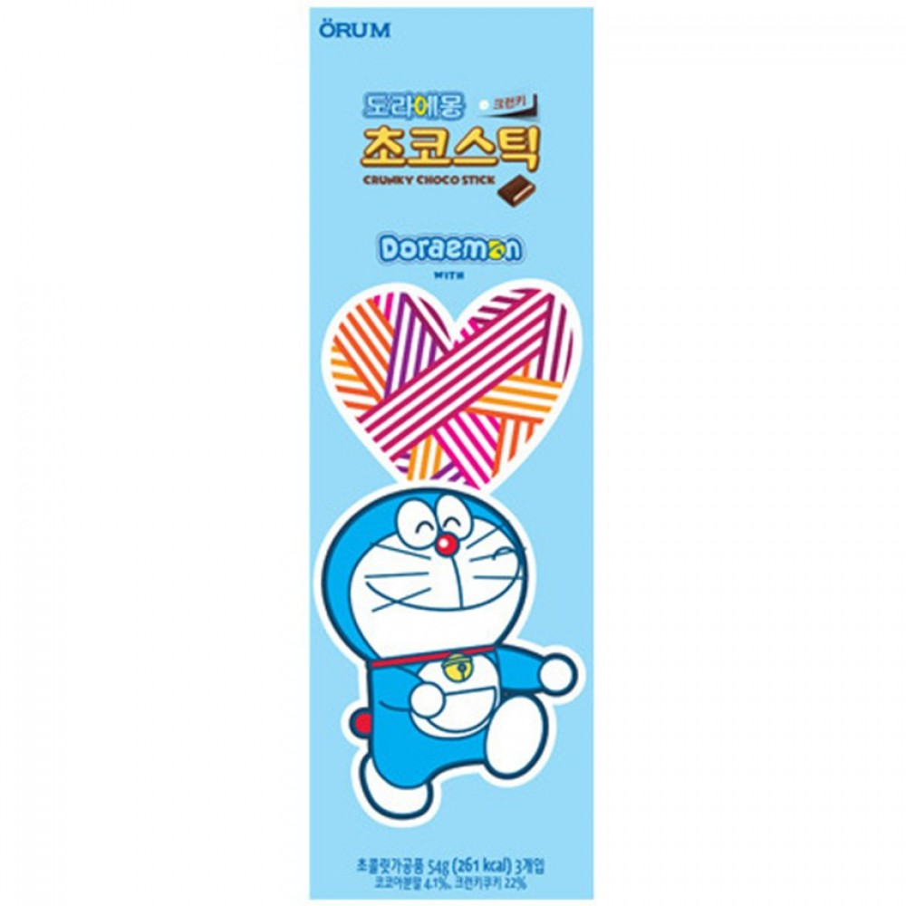 [Joy Snacks] Korea Orum Doraemon Crunky Choco Stick 54g - KN423