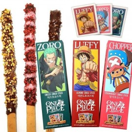 image of Joy Snacks] Korea Sunyoung One Piece Zoro Luffy Chopper Choco Stick 54g - KN422