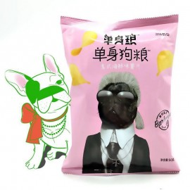 image of [JoySnacks]Single Dog Food Grain SeafoodFlavor PotatoChips 50g 单身狗粮意式海鲜味薯片-KN405