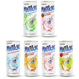 image of [Joy Snacks] Korea Lotte Chilsung MILKIS 250ml Assorted Flavors