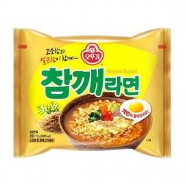 image of [Joy Snacks] Korean Ottogi Sesame Ramen Multipack (120g x 5ea) - KN192