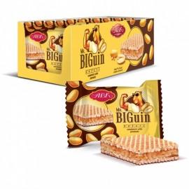 image of [Joy Snacks] ABK Kresko Mr Biguin Wafers Sandwich Peanuts (23g x12pcs) - KN410