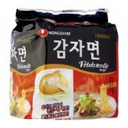image of [Joy Snacks] Korea Nongshim Halal Potato Noodle Soup Ramen (100gx4ea) - KN07