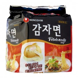 image of [Joy Snacks] Korea Nongshim Halal Potato Noodle Soup Ramen (100gx4ea) - KN07