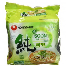 image of [Joy Snacks] Nongshim Soon Veggie Noodle Soup Ramyun (112gx5ea) - KN08