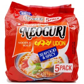 image of [Joy Snacks] Nongshim Korea Neoguri Spicy Udon Noodle (120gx5ea) - KN11