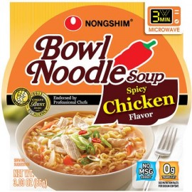 image of [Joy Snacks] NongShim Bowl Noodle Soup Spicy Chicken Flavor 86g - KN17