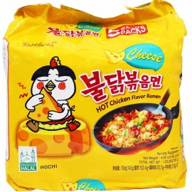 image of [JoySnacks]Korea Samyang Hot Chicken Cheese Spicy Ramen Multipack (5x140G) - KN114
