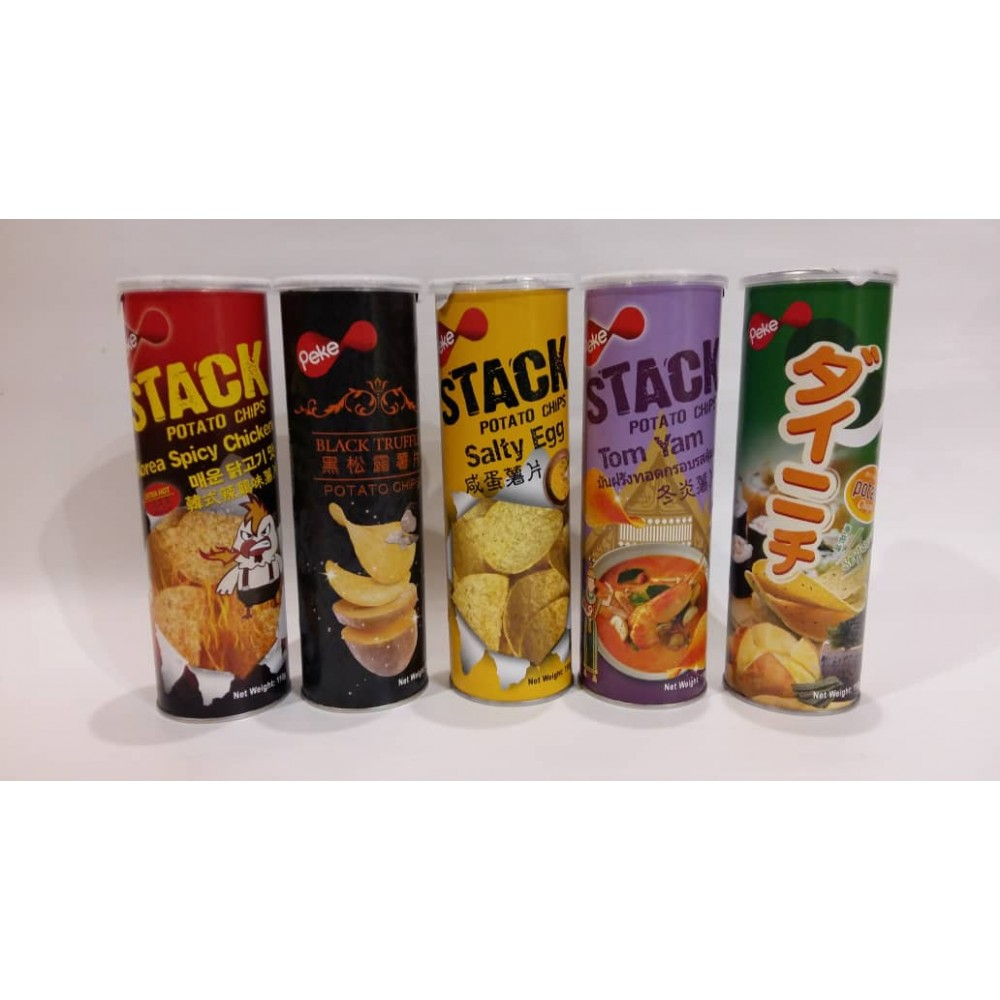 [Joy Snacks] Halal Peke Stack Potato Chips 110g