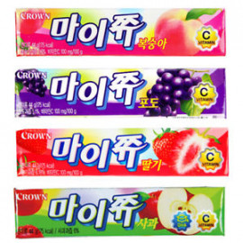 image of [Joy Snacks] Korea Crown Mychew Grape / Peach Flavor Candy 44g - KN273/KN415