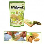 image of [Joy Snacks] Korea Gilim Honey Butter Wasabi Almond 35g - KN359