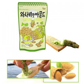 image of [Joy Snacks] Korea Gilim Honey Butter Wasabi Almond 35g - KN359