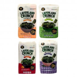 image of [Joy Snacks] Korea Laverland Crispy Seaweed Snack 4.5g (9 Pack)