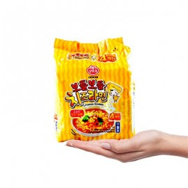 image of [Joy Snacks] Korean Ottogi Cheese Ramen Noodle (111g x 4ea) - KN142