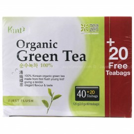 image of [Joy Snacks] Teazen Organic First Flush Green Tea 120g (2gx40+20 teabags - KN208